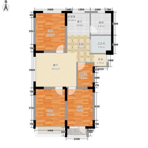 瀚邦凤凰传奇3室0厅1卫1厨123.00㎡户型图