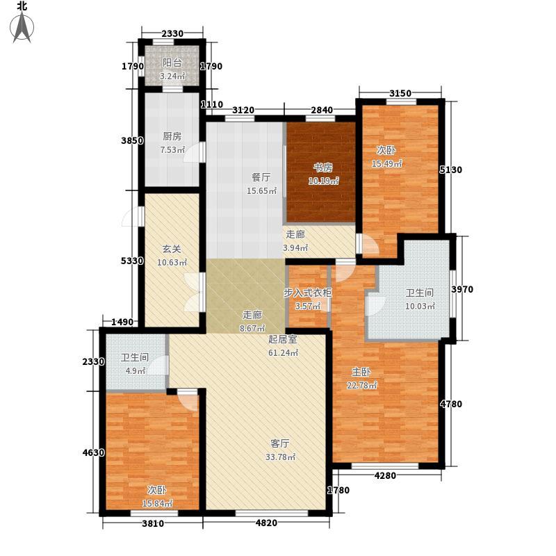 华润・�橡府185.00㎡4#楼Ca户型4室2厅2卫1厨