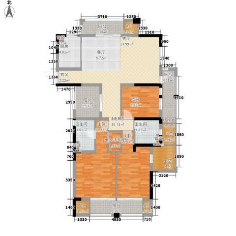 天阳云筑3室0厅2卫1厨138.00㎡户型图