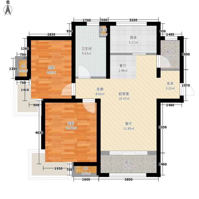 天地源欧筑1898二期高层11号楼首层西户型2室2厅