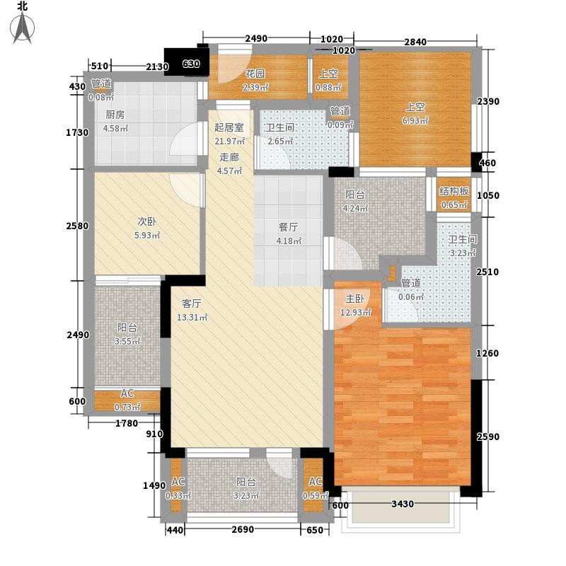 天阳云筑90.00㎡天阳云筑户型图90方户型2室2厅2卫1厨户型2室2厅2卫1厨