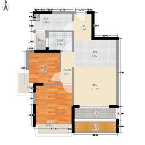 梅花山庄2室0厅1卫1厨430.00㎡户型图