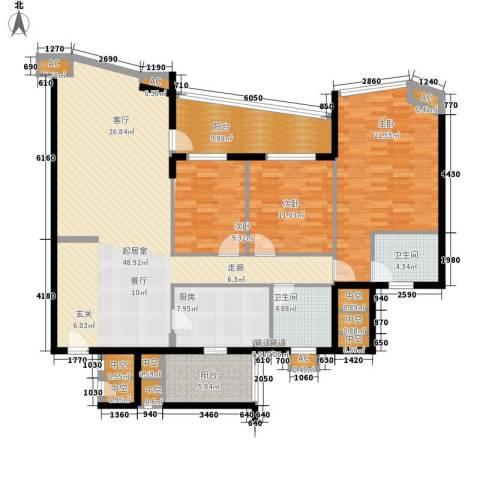 湖景壹号庄园3室0厅2卫1厨148.00㎡户型图
