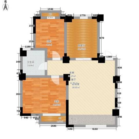 皇都佳苑2室0厅1卫0厨88.00㎡户型图
