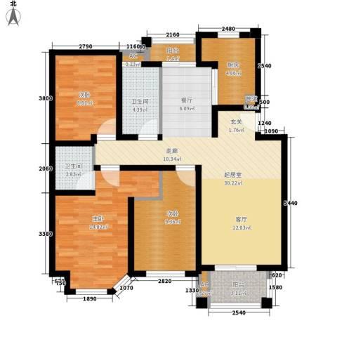 海上普罗旺斯3室0厅2卫1厨139.00㎡户型图