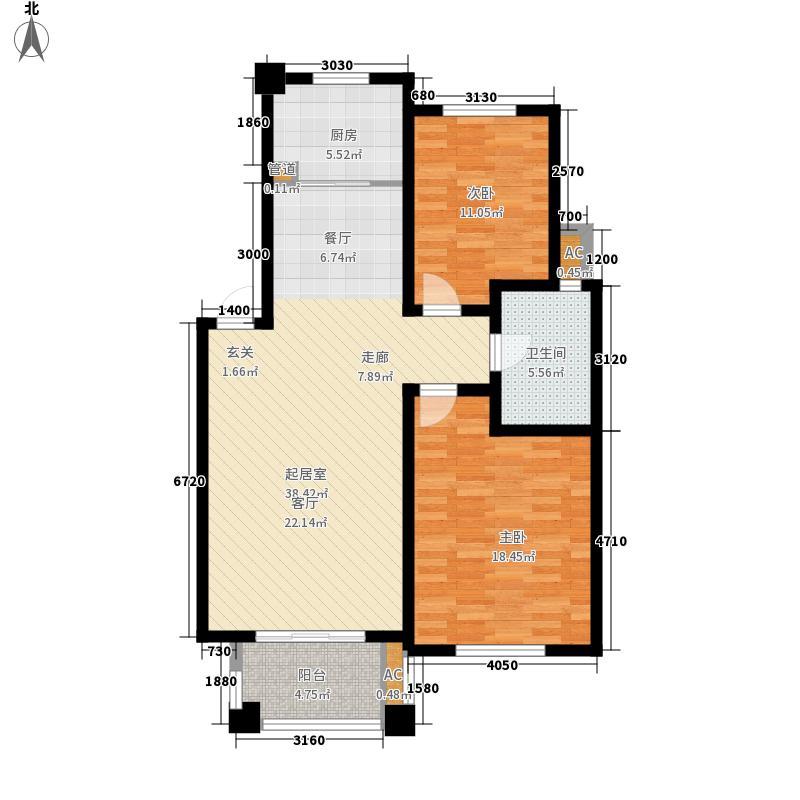 海上普罗旺斯97.09㎡户型3室2厅1卫