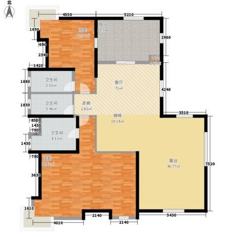 凯茵新城2室1厅3卫0厨363.00㎡户型图