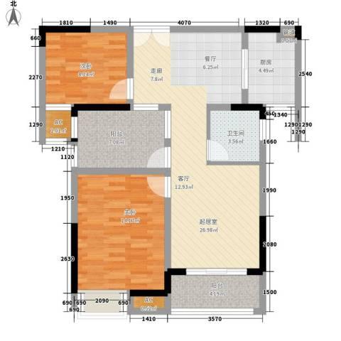 国泰名都2室0厅1卫1厨82.57㎡户型图