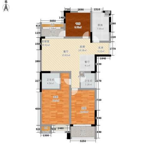 国泰名都3室0厅2卫1厨114.72㎡户型图