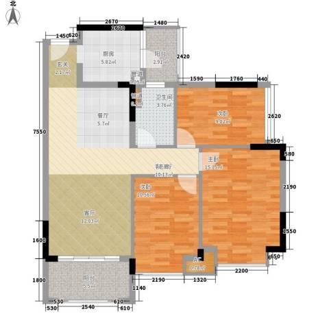 雅居乐城南源著3室1厅1卫0厨94.00㎡户型图