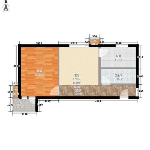 天恒嘉俪家园1室0厅1卫1厨53.00㎡户型图