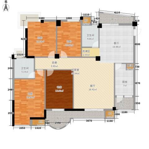 山水华景4室0厅2卫1厨158.00㎡户型图