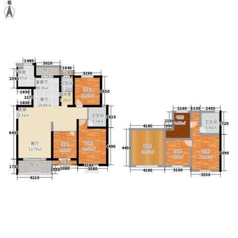 枫逸人家6室1厅3卫1厨183.00㎡户型图