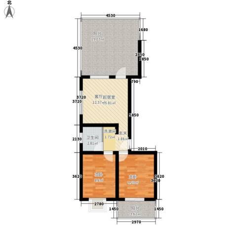 红全佳苑2室0厅1卫0厨68.00㎡户型图
