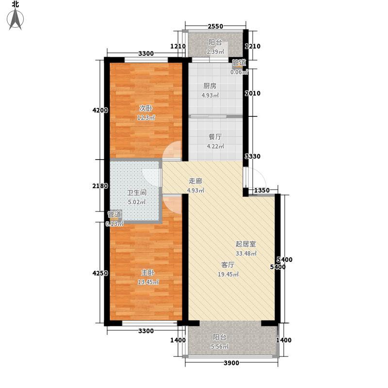 富馨花园户型图2室2厅1卫
