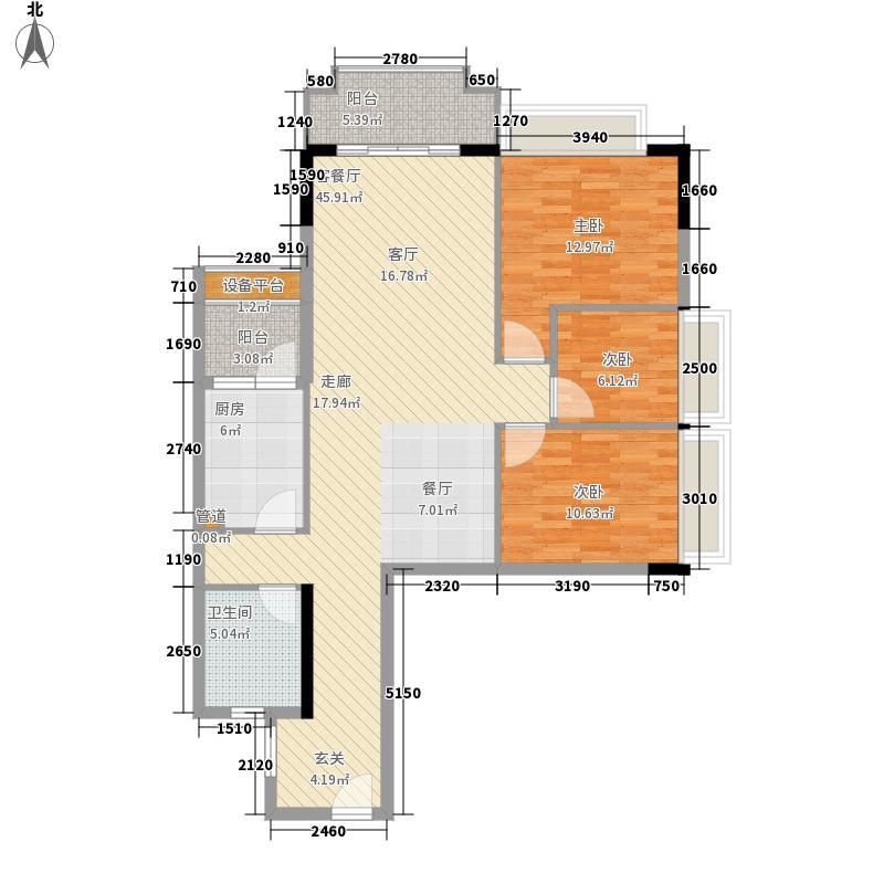 正升・雅境108.08㎡正升・雅境户型图A栋08单位3室2厅1卫1厨户型3室2厅1卫1厨