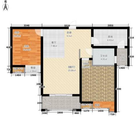 海悦国际2室1厅1卫1厨95.00㎡户型图