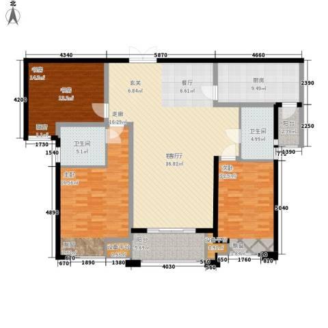 海悦国际3室1厅2卫1厨135.00㎡户型图