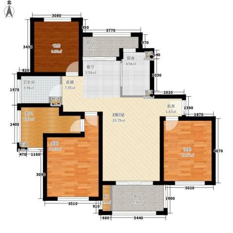 宝华盛世花园3室0厅1卫1厨105.00㎡户型图