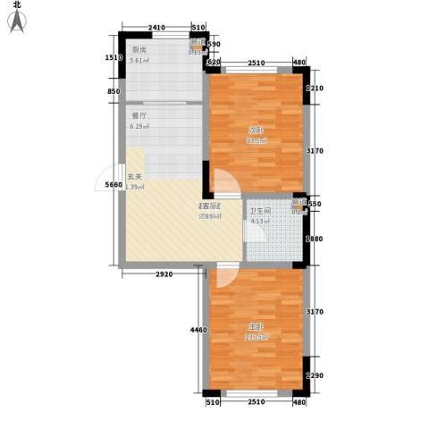 台北雅苑2室0厅1卫1厨62.86㎡户型图