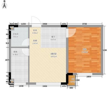 台北雅苑1室0厅1卫1厨58.15㎡户型图