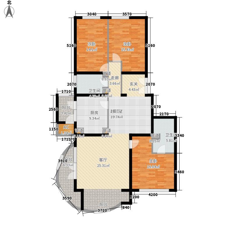 耕天下148.35㎡户型3室2厅2卫1厨