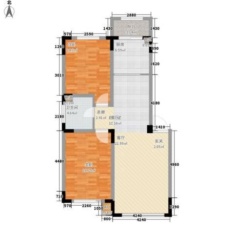 台北雅苑2室0厅1卫1厨94.87㎡户型图