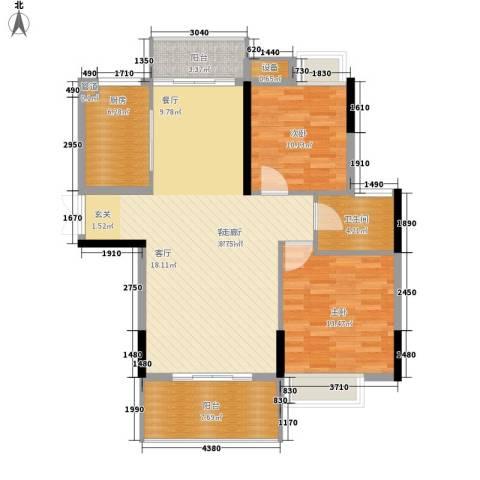 联泰香域中央2室1厅1卫1厨94.00㎡户型图