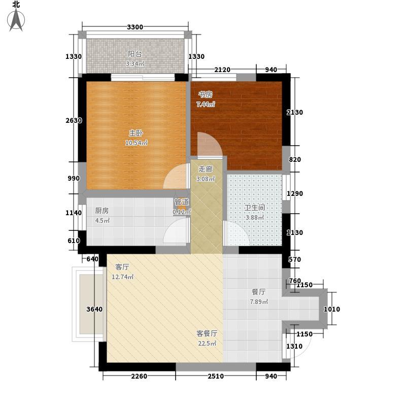 东和科苑SOHO60.14㎡C41面积6014m户型