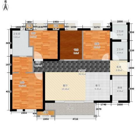 万科广场4室1厅3卫1厨129.00㎡户型图