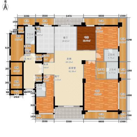 绿城之江1号4室0厅4卫1厨339.58㎡户型图