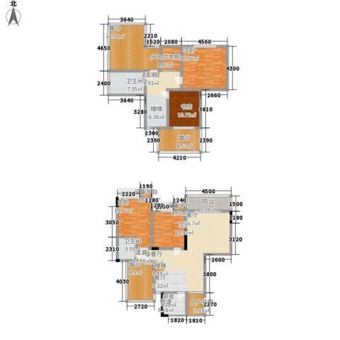 义和故事水云涧4室1厅2卫1厨244.00㎡户型图