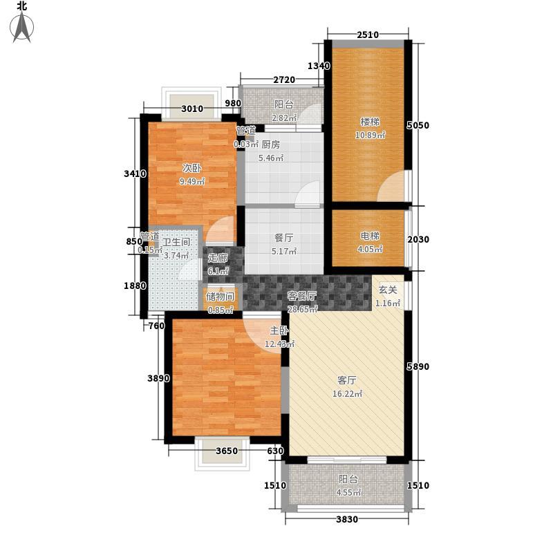 中鼎豪园95.63㎡上海中鼎豪园3号楼B栋02室户型2室