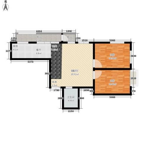 鑫隆帝豪2室1厅1卫0厨101.00㎡户型图