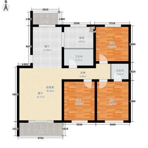 福郡雅居3室0厅2卫1厨126.00㎡户型图