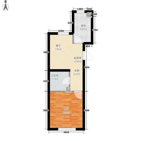 令闻新村1室0厅1卫1厨61.00㎡户型图