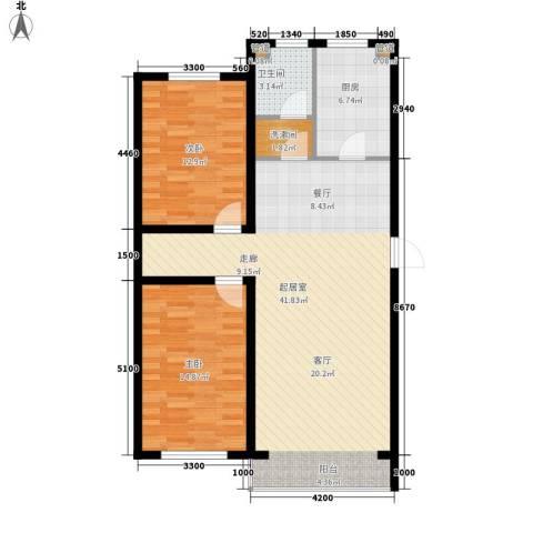 富馨花园2室0厅1卫1厨103.00㎡户型图