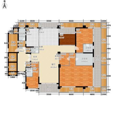 绿城之江1号4室0厅5卫1厨416.39㎡户型图