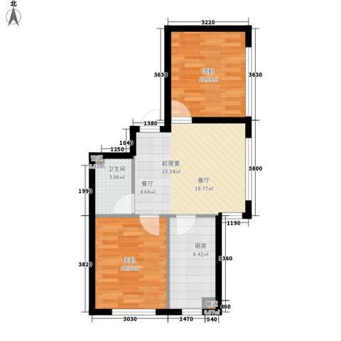 宇光万和城2室0厅1卫1厨68.00㎡户型图