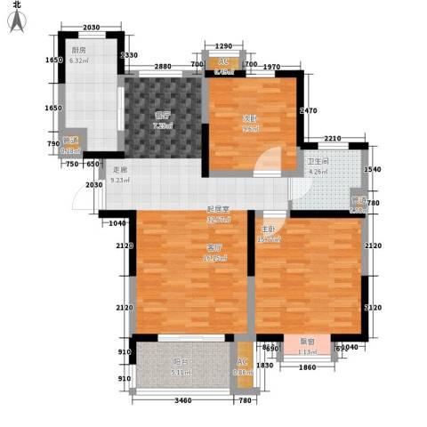 汉城国际2室0厅1卫1厨89.00㎡户型图