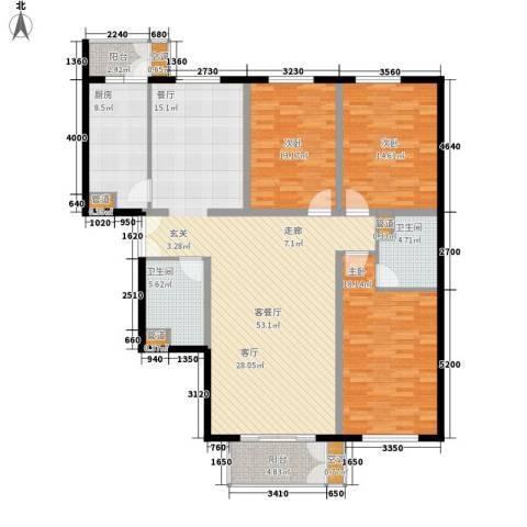 特区8083室1厅2卫1厨144.00㎡户型图