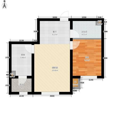 宇光万和城1室0厅1卫1厨62.00㎡户型图