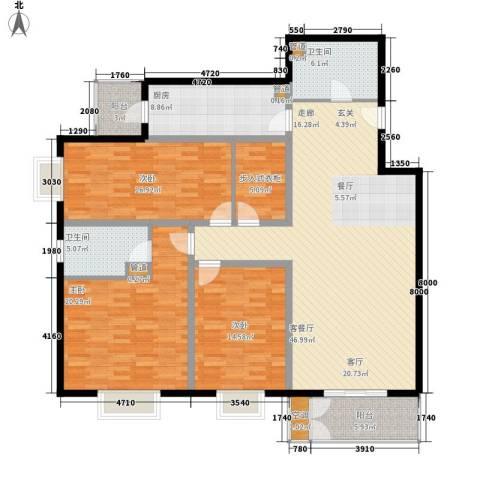 特区8083室1厅2卫1厨152.00㎡户型图
