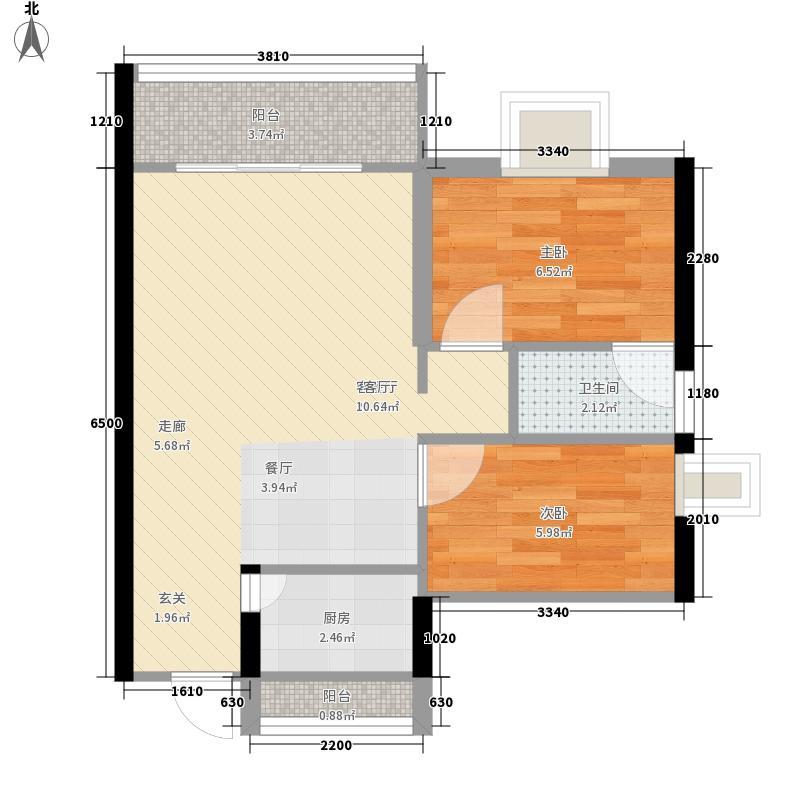 东峰世纪公寓84.12㎡9#10#户型