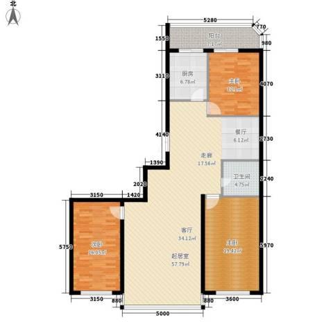 绿苑小区3室0厅1卫1厨137.26㎡户型图
