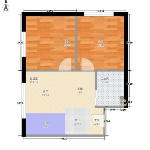 永昌小区2室0厅1卫0厨55.00㎡户型图
