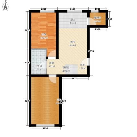 永昌小区2室1厅1卫0厨73.00㎡户型图