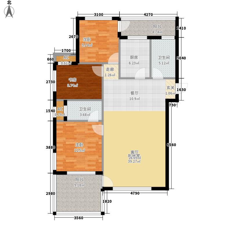 盛世・园田居111.70㎡盛世・园田居户型图E4户型3室2厅2卫1厨户型3室2厅2卫1厨