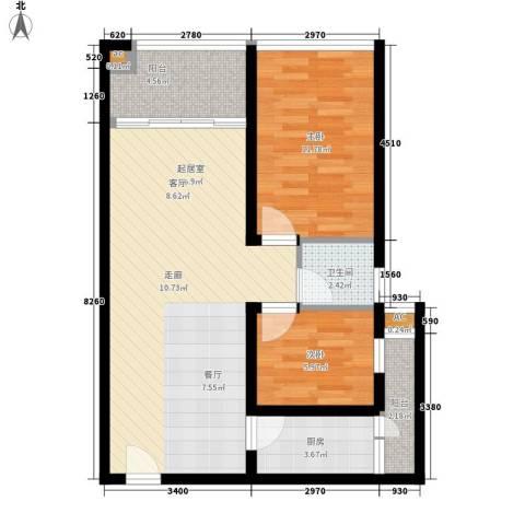 莲丰雅苑二期2室0厅1卫1厨85.00㎡户型图