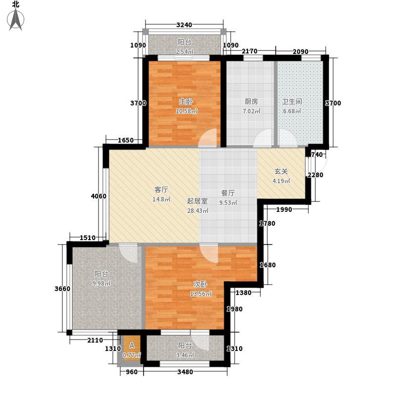 盛世・园田居94.52㎡盛世・园田居户型图E1户型2室2厅1卫1厨户型2室2厅1卫1厨